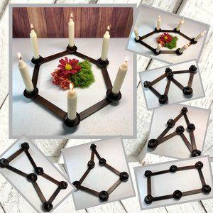Vntg Adjustable Candle Holder
